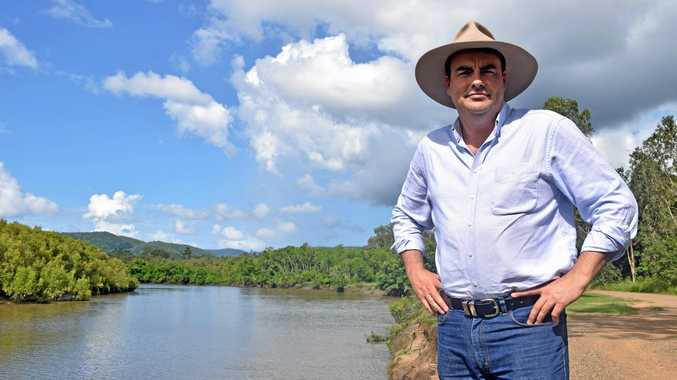 Whitsunday MP Jason Costigan at the Proserpine River.