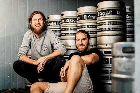 Christen McGarry (left) and Matt Hepburn, of Your Mates Brewing Co.