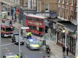 Casualties reported in London bus crash