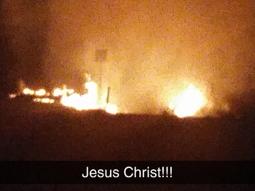 Truck stop fire near Warwick