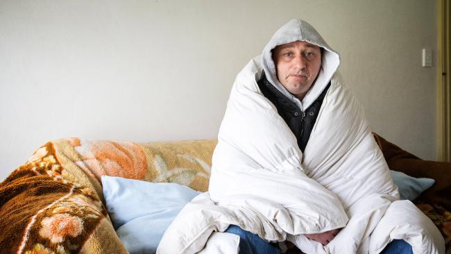 Ascot Vale's Mark Brewer is feeling the pinch and trying to reduce his heating costs. Picture: Mark StewartSource:News Corp Australia