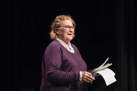 Speech and drama adjudicator June Finney.