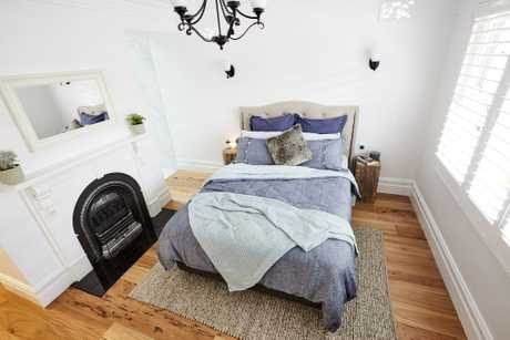 Sticks and Wombat's guest bedroom paid tribute to the heritage of the home.