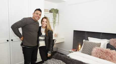 Ronnie and Georgia in their winning guest bedroom.