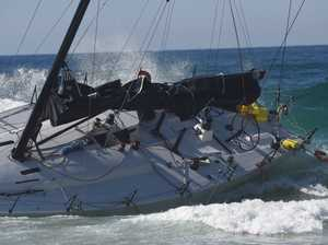 Racing Yacht run aground