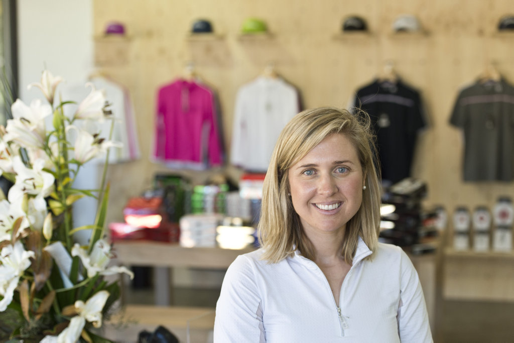 Leah Hart returns to Toowoomba as the new PGA professional at Toowoomba Golf Club, Friday, August 11, 2017.
