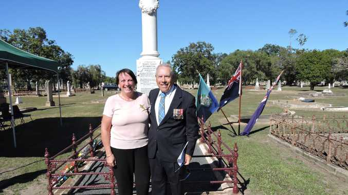 Retired police officer of 41 years Noel Sparks and his wife stumbled across the dilapidated grave of Senior Constable Henry James Fetheston when visiting the Maryborough Cemetery after the 2012 floods to check on Denise's great-grandmother's grave.