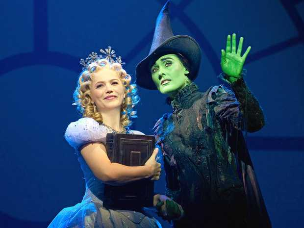 STAGE PRESENCE: Suzie Mathers and Jemma Rix in a scene from Wicked The Musical.