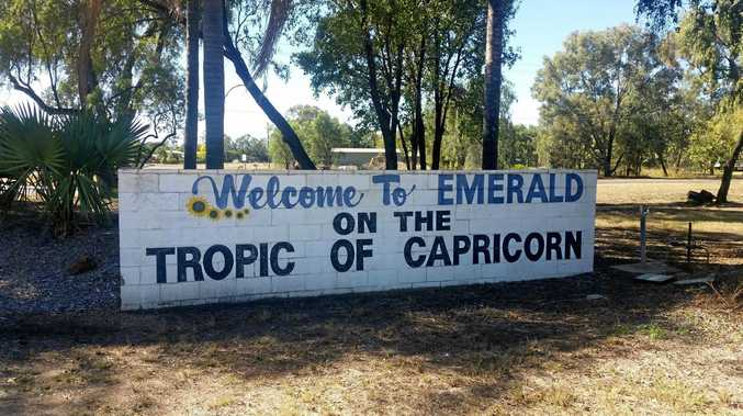 The Welcome to Emerald sign.