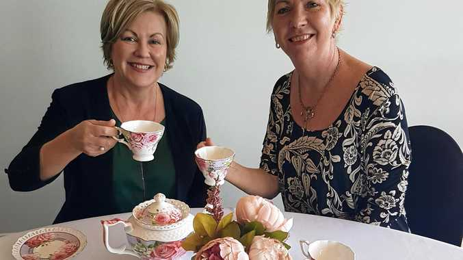 FANCY FUNDRAISER: Heritage Bank manager Leanne Herman and Bundaberg Health Services Foundation manager Maria Burnet are looking forward to the charity high tea.