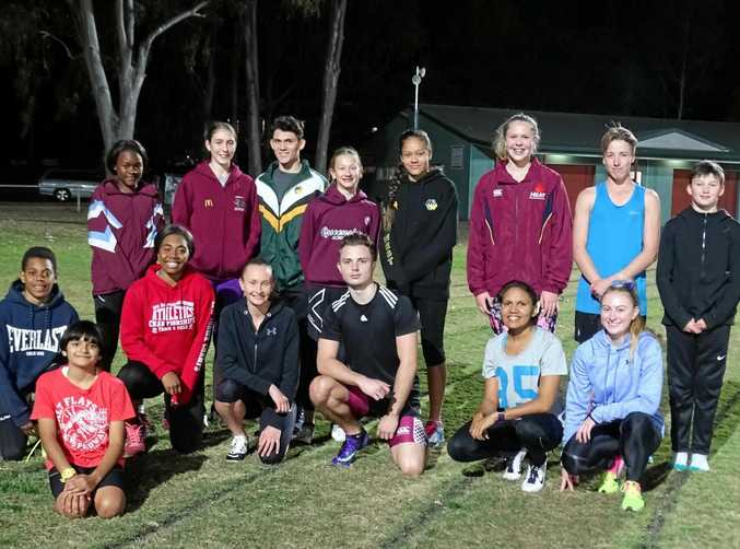TIME TO COMPETE: Ipswich and District Athletic Club members prepare for this year's annual Winter Carnival.