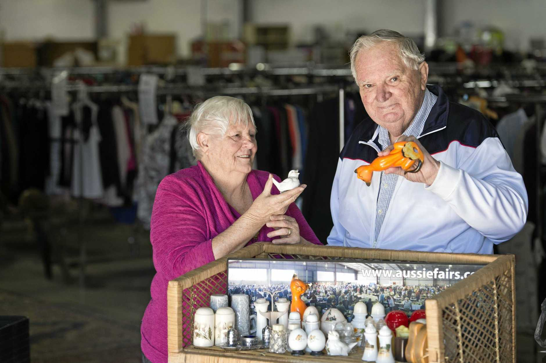 Joyce and Allan Lawson have been collecting salt and pepper shakers from all over Australia for over 30 years.