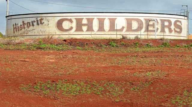 TIME FOR A CHANGE?: The Childers water tank signage has been raised with Bundaberg Regional Council.