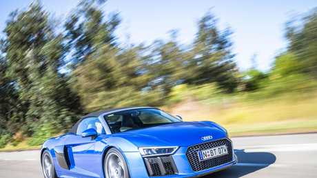 The Audi R8 Spyder in 2017 guise.