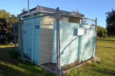 Closed off toilet block in Harold Lloyd Park in Wooli.