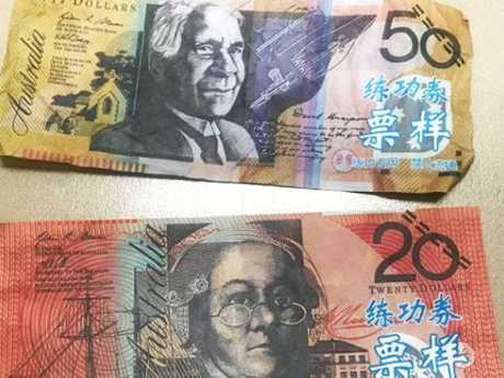 Counterfeit notes with Chinese writing have appeared on the Coast.