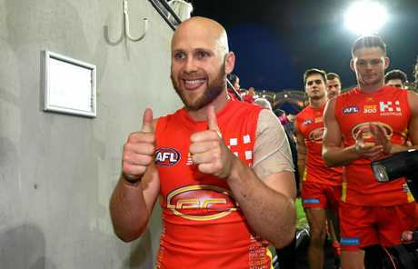 Suns player Gary Ablett following his 300th game in round 15.