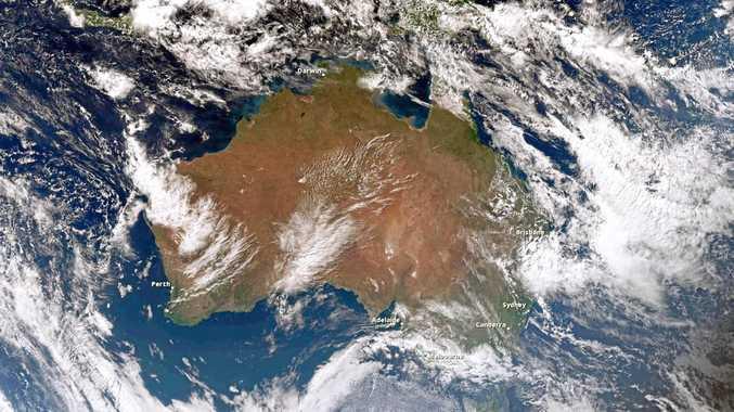 Bureau of Meteorology satellite image of Australia.