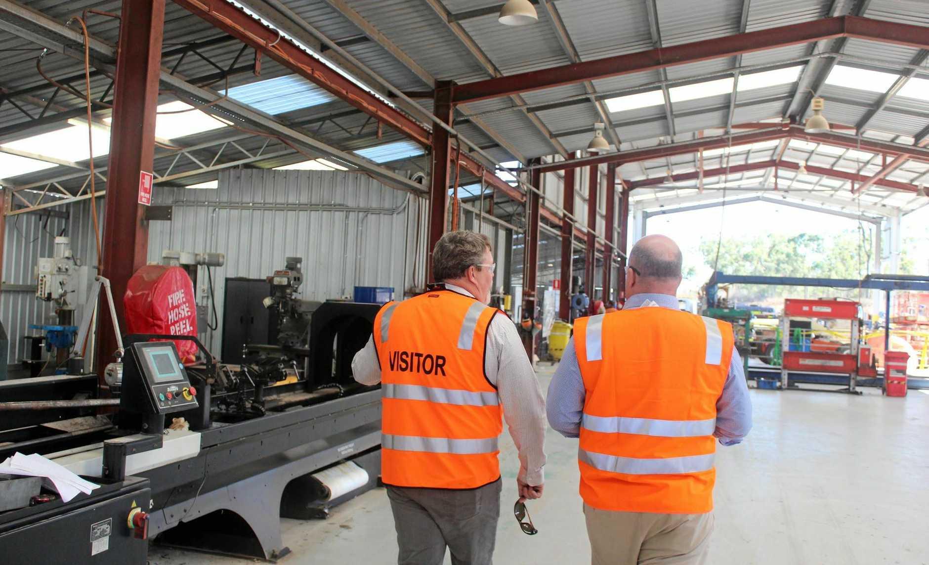 Adani Australia regional content manager Ben Hughes visits SMW in Rockhampton.