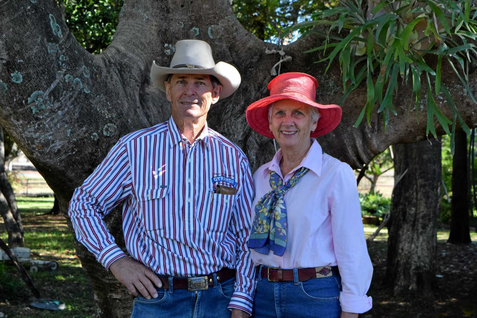 Burnett and Louise Joyce gave tours of their property.