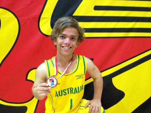 BRONZED AUISSIE: Sean Leyland has enjoyed success on the basketball court with Australia.