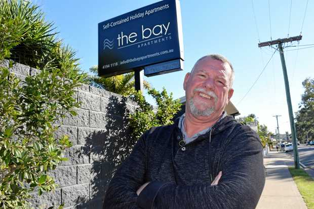 BOOKED OUT: Derek Foulston from Bay Apartments says he's one of the many hotels booked out ahead of this week's Seafood Festival .