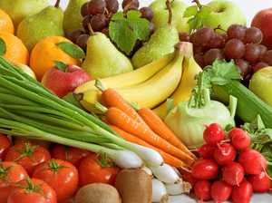 Assortment of fresh vegetables and fruit.