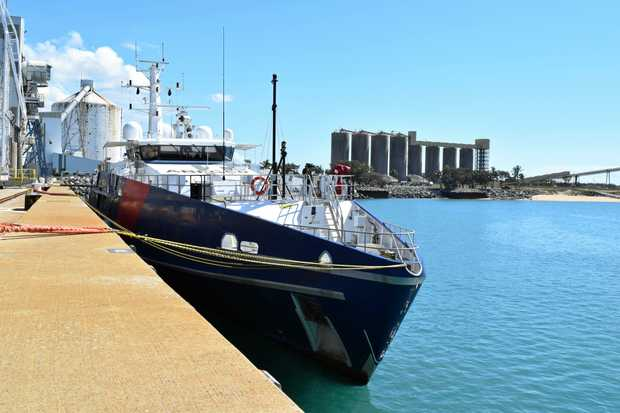 The ABF Cutter Cape Nelson stopped in Mackay on Friday - its final stop before returning to Cairns.