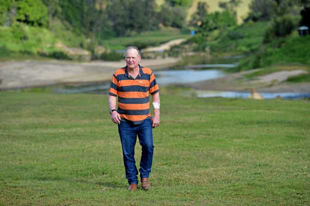 DEFIANT: Kenilworth dairy farmer Shane Paulger also runs a camping ground on his property but faces closure due to council regulations.