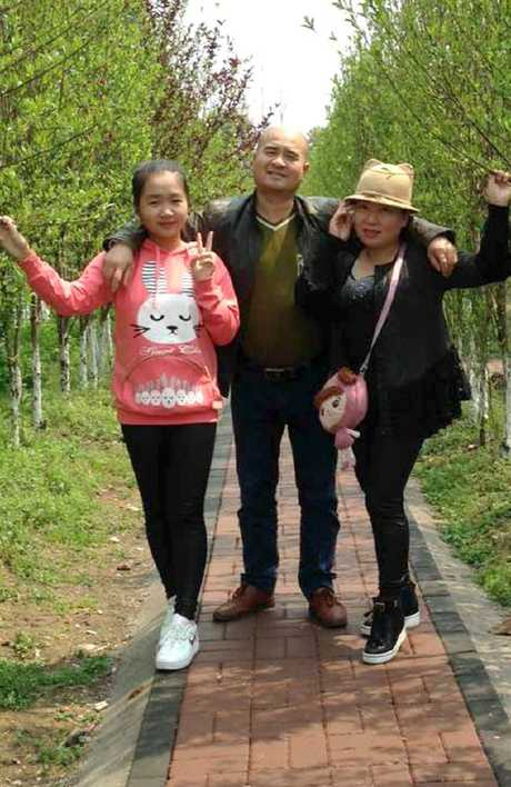Xinyu Yuan with her father Zheng Chuan Yuan and mother Ma Li Dai. Picture: Supplied