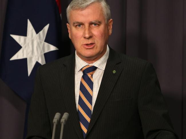 Minister for Small Business Michael McCormack holding a press conference at Parliament House in Canberra. Source:News Corp Australia