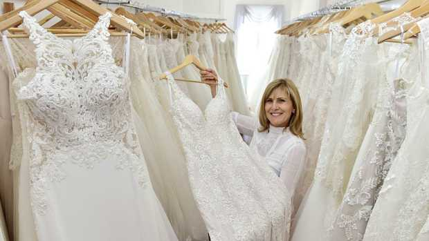 White House Bridal Boutique owner Deni McClure in her upstairs studio showroom. Picture: Wesley Monts
