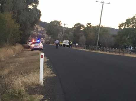 A child has died after being struck by a car in the Lockyer Valley.