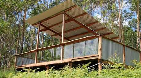 A viewing platform at the new Mt Warning Eco Village.