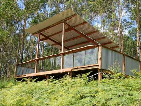 A viewing platform at the new Mt Warning Eco Village.