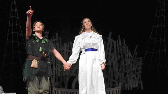 REACH FOR THE STARS: Brent Garvie and Sarah Hall bring the classic to life as Peter and Wendy.