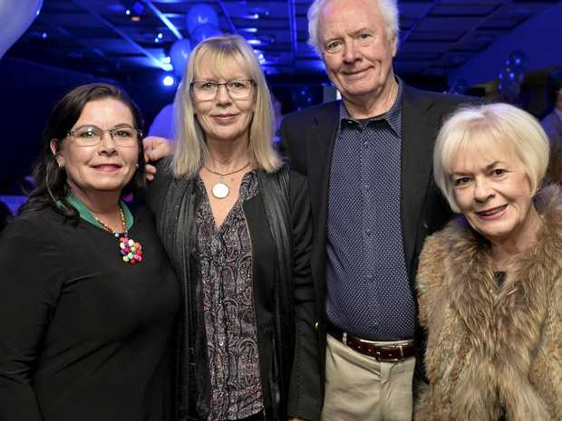 10TH BIRTHDAY: Getting together to celebrate are (from left) Annie Lugg, Antoinette Vlymincx, Peter Erwin and Mary Donovan.