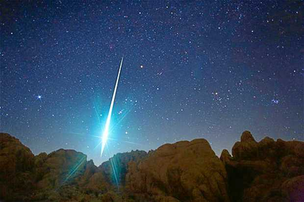 FIRE IN THE SKY: Meteors will be visible in the night sky over the weekend.