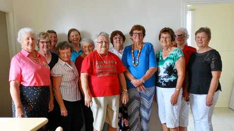 Members of Victoria Hill Branch welcomes Rosemary Easton and Cathie Wilson (centre) from Days For Girls team that operates from Allora.