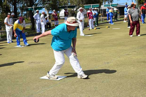 St Helen's Creek bowler Peter Wright took part in the NQAS 200s Bowls Carnival on Saturday morning.