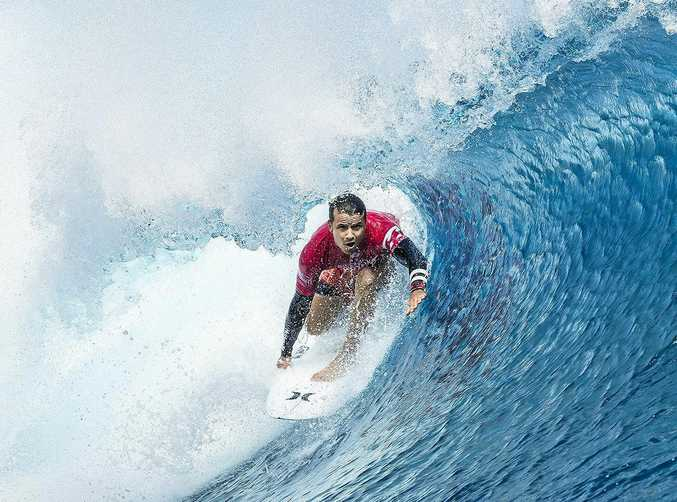 AT TEAHUPO'O: Julian Wilson was amid the better performers during the opening heats.