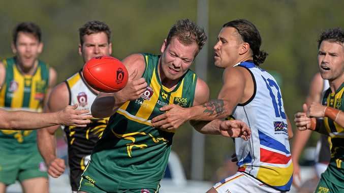 IN ACTION: Maroochydore's Tyle Williams in the side's win over Caloundra.