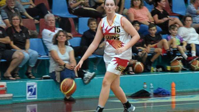 Rachel McGinniskin shone during the Coffs Harbour Suns' Waratah League semi final against Shoalhaven scoring 10 points.