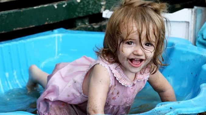 Two-year-old Hope Bunston was run over in the driveway of her Lockyer Valley home.