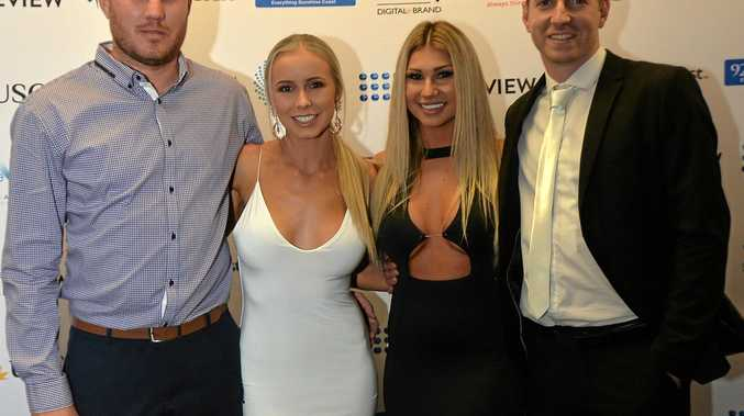NIGHT OF GLAMOUR: Hard work got Steve Loadsman, Jaymee Martin, Natasha Grzeskowiak and Mac Preston to the Sunshine Coast Business Woman's Network Awards.