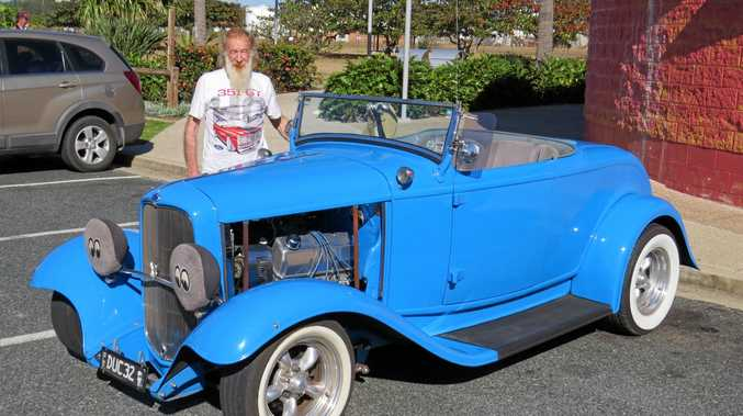 OLD SCHOOL: Rob Rowlands with his 1932 Ford Roadster.