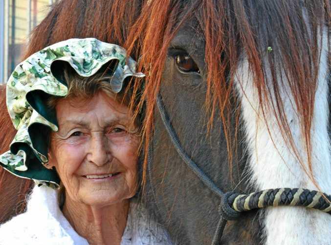 FAN FAVOURITE: Ann Muller is one of the popular stars of the Ekka horse exhibit.
