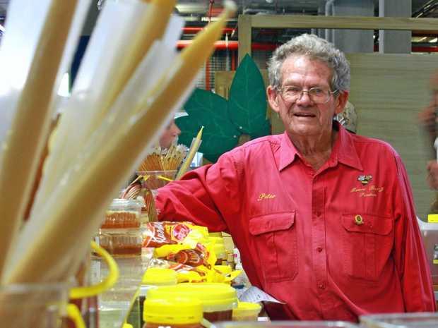Sunshine Coast honey grower Peter Moore is lending a hand at the Ekka.