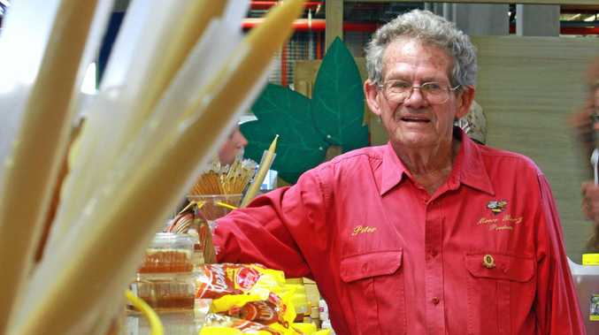 Sunshine Coast honey grower Peter Moore is lending a hand at the Ekka.