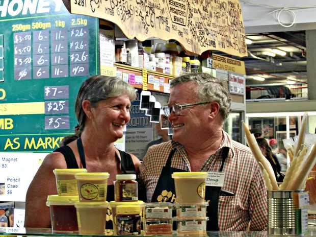 REAL BUZZ: Doug and Vicki Kilgour are sharing their love of bees and honey with Ekka patrons.